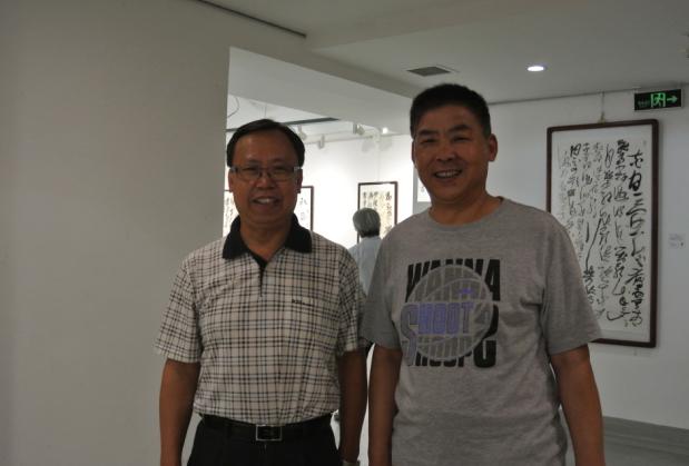 名誉主席王登武与央视书画频道总监王平