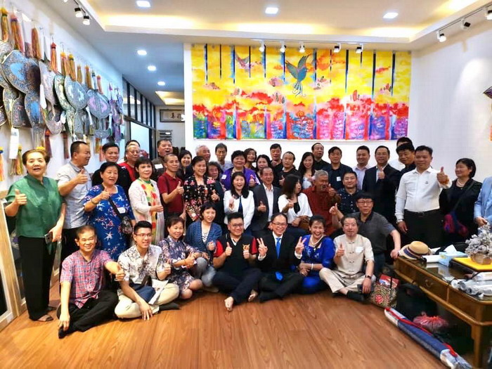 中国书画家协会艺术家在华夏艺术馆