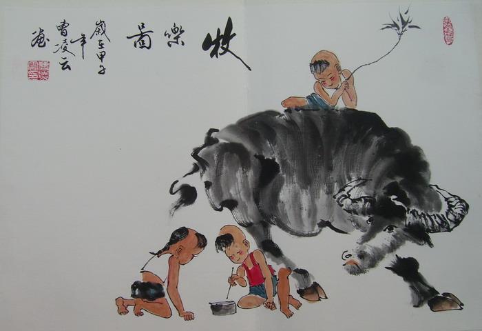 曹凌云---牧乐图
