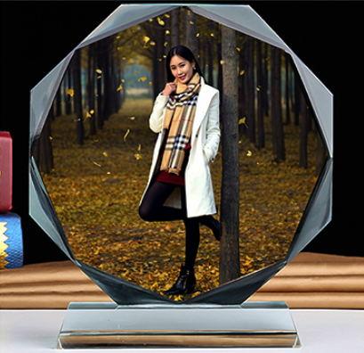 水晶彩印定制摆台-个人写真