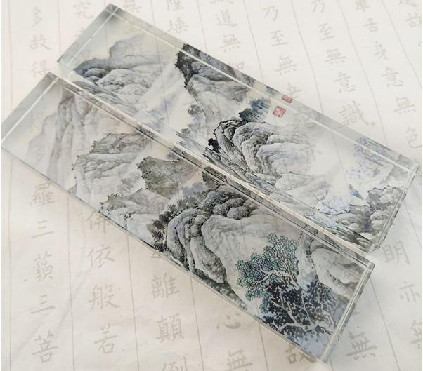 水晶镇纸-风景图