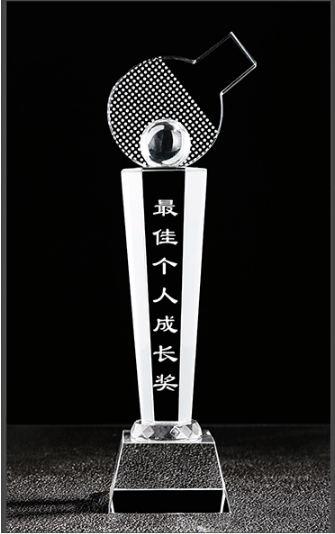 上海水晶奖杯-最佳个人成长奖
