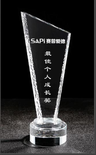 天津水晶奖杯-最佳个人成长