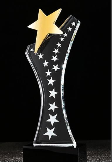 济南水晶奖杯-璀璨之星