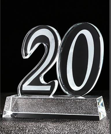 三明水晶奖杯-20周年庆