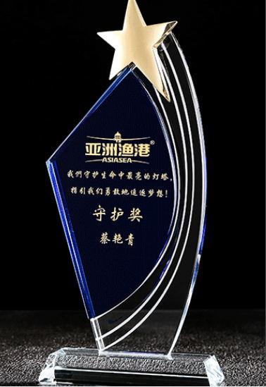 南平水晶奖杯-守护奖