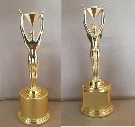 金属奖杯-奥斯卡举钻石