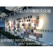 亚克力UV雕刻企业文化墙
